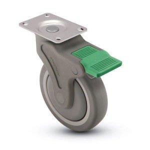 Khi mua một bánh xe đẩy với hệ thống phanh